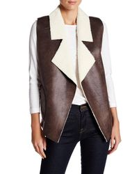 French Connection | Brown Winter Rhoda Faux Shearling Vest | Lyst