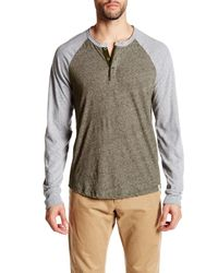 Lucky Brand | Multicolor Colorblock Henley Tee for Men | Lyst