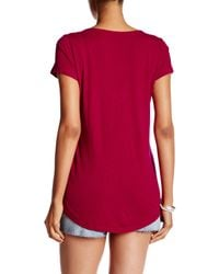 Lucky Brand - Short Sleeve Embroidered Shirttail Tee - Lyst