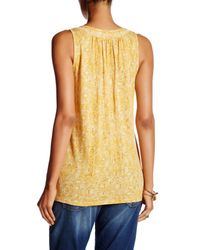 Lucky Brand - Yellow Beaded Scoop Neck Tank - Lyst