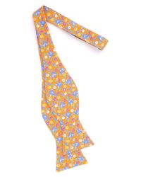 Ted Baker - Orange Floral Cotton Bow Tie for Men - Lyst