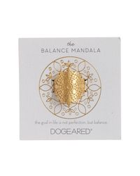 Dogeared - Metallic The Balance Mandala Ring - Lyst