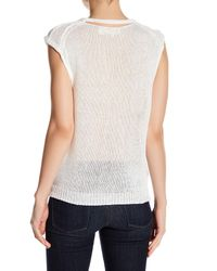 Inhabit - White Loose Chunky Knit Tank - Lyst