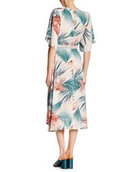 Dress Forum - Blue Tropical Kimono Style Wrap Around Maxi Dress - Lyst