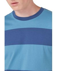Topman - Blue Stripe T-shirt for Men - Lyst