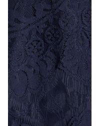 BB Dakota - Blue 'rhianna' Illusion Yoke Lace Fit & Flare Dress - Lyst