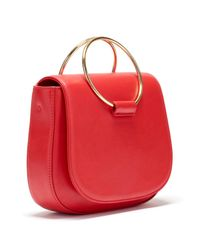 Thacker NYC - Red Sabine Leather Saddle Bag - Lyst