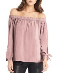 Michael Stars - Pink Tie Sleeve Top - Lyst
