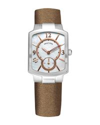 Philip Stein - Metallic Women's Classic Mother Of Pearl Leather Strap Watch, 39mm X 27mm - Lyst