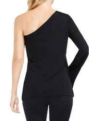 Vince Camuto - Black One-shoulder Bell Sleeve Sweater - Lyst