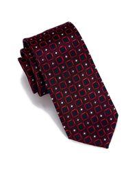 Perry Ellis - Red Seneca Geo Print Tie for Men - Lyst