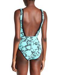 Nanette Lepore Multicolor Jade Jacquard Goddess One-piece Swimsuit