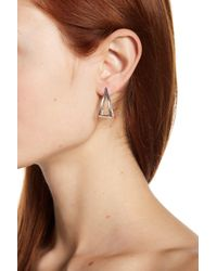Argento Vivo - Metallic Sterling Silver Geo Earrings - Lyst