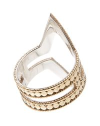 Anna Beck - Metallic 18k Gold Plated Sterling Silver Open Diamond Ring - Lyst