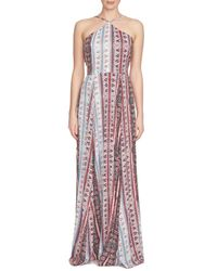 1.STATE | Multicolor Mixed Print Maxi Dress | Lyst