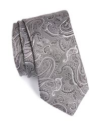 Calibrate - Black Floating Paisley Silk Tie for Men - Lyst
