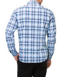 7 Diamonds - Blue Morning Rain Woven Shirt for Men - Lyst