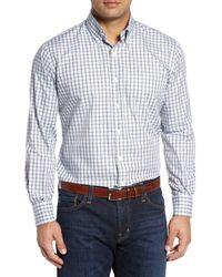Peter Millar - White Regular Fit Crisp Pane Sport Shirt for Men - Lyst