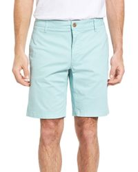 Tailor Vintage - Blue Stretch Twill Walking Shorts for Men - Lyst