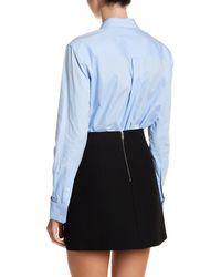 Tibi | Blue Oxford Shirting Bodysuit | Lyst