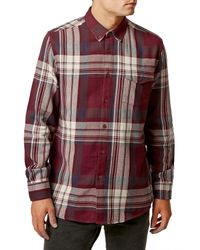 TOPMAN - Pink Check Long Sleeve Shirt for Men - Lyst