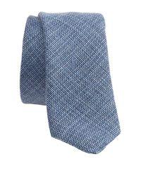 Boga - Blue Chambray Skinny Tie for Men - Lyst