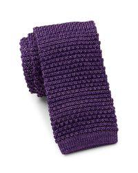 Tommy Hilfiger | Purple Shine Solid Silk Tie for Men | Lyst