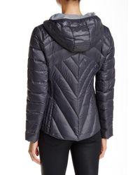BCBGeneration - Gray Missy Short Hooded Jacket - Lyst