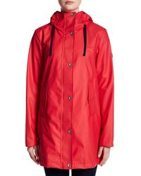Nautica - Red Hooded Anorak - Lyst