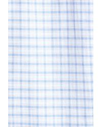 Jeremy Argyle Nyc - Blue Fitted Check Sport Shirt for Men - Lyst