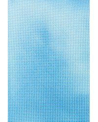 BOSS - Blue Woven Silk Tie for Men - Lyst