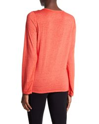 Marc New York | Pink Long Sleeve Lace-up Tee | Lyst