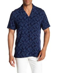 Tocco Toscano - Blue Short Sleeve Floral Print Woven Shirt for Men - Lyst