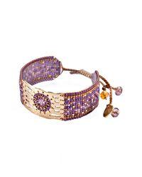 Mishky - Multicolor Misty Beaded Cuff Bracelet - Lyst