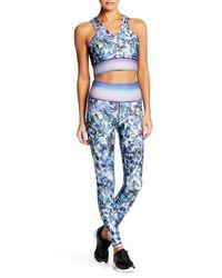 Nanette Lepore | Blue Digital Ditsy Wide Waistband Legging | Lyst