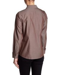 Foxcroft - Brown Lauren Fitted Shirt - Lyst