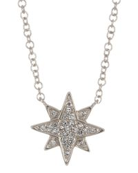 Ron Hami - Metallic 14k White Gold Pave Diamond Starburst Pendant Necklace - 0.06 Ctw - Lyst