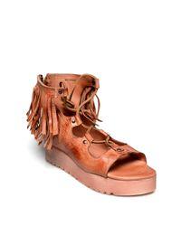Bed Stu - Brown Madison Fringe Platform Sandal - Lyst