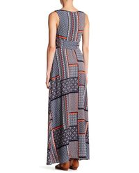 Eva Franco - Blue Clarissa Printed Maxi Dress - Lyst