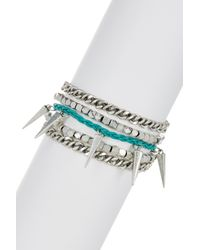 Rebecca Minkoff - Metallic Multi-row Bracelet - Lyst