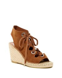 Ash - Brown Patty Lace Wedge Sandal - Lyst