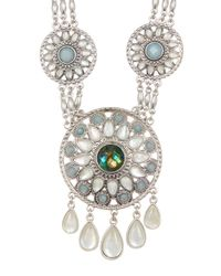 Lucky Brand - Multicolor Seafoam Statement Necklace - Lyst