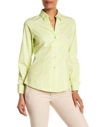 Foxcroft - Yellow Lauren Fitted Shirt - Lyst