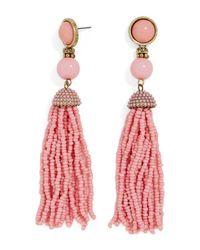 BaubleBar - Pink 'artemis' Beaded Tassel Drop Earrings - Lyst