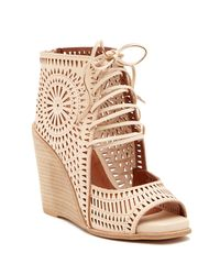 Lyst Jeffrey Campbell Rayos Perforated Wedge Sandal Women