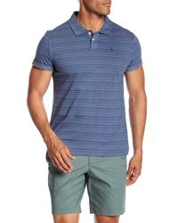 Original Penguin - Blue Jacquard Textured Stripe Short Sleeve Polo for Men - Lyst