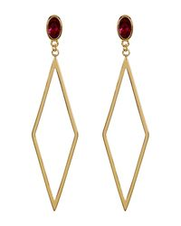 Gorjana - Metallic Dez Diamond-shape Drop Earrings - Lyst