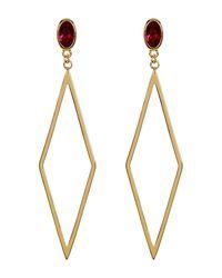 Gorjana | Metallic Dez Diamond-shape Drop Earrings | Lyst