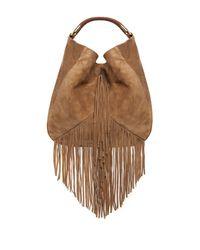 Etienne Aigner | Brown Fringe Modo Hobo Bag | Lyst