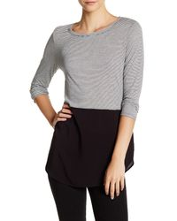 Two By Vince Camuto | Gray Ashton Long Sleeve Tee | Lyst